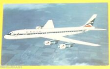 Delta Airlines 1970s DC8 Fanjet Airplane Postcard - Great Picture! Nice! SEE!