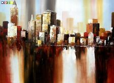 Abstrakt - New York  Downtown 2057 im Herbst i87236 80x110cm Ölgemälde