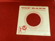 "TOP RANK RECORDS ~ VINTAGE ORIGINAL ~ RECORD COMPANY SLEEVE ~ 7"" SINGLE 45 RPM"