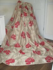 HEAVYWEIGHT TOP QUALITY CURTAINS EXTRA LARGE HANDMADE GOLD FLORAL 100% COTTON