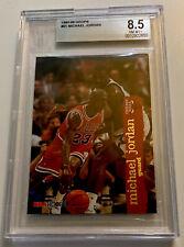 MICHAEL JORDAN 1995-96 NBA HOOPS BASE CARD #21  BGS 8.5 NM-MT+. LOW POP- RARE
