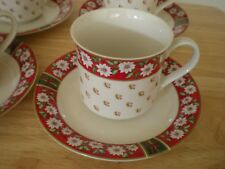 Charlton Hall by Kobe  4 Coffee Cups & 5 Saucers --Excllent condition--