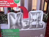 New 5.5' NOEL SIGN LED AIRBLOWN INFLATABLE Christmas Lights Up Gemmy Decoration