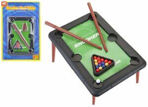Kids Adults Toy Mini Tabletop Snooker Pool Play Set Desktop Stocking Filler Toy