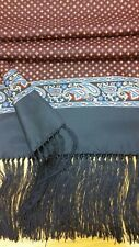 New 100% PURE SILK Scarf  Blue & Red Paisley Warm soft Silk Scarves