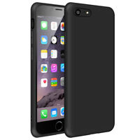 SDTEK Matte Case for iPhone 7 / 8 Soft Cover (Black)