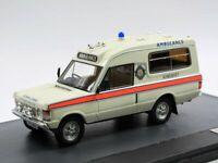 "Scale model car 1:43 RANGE ROVER 4x4 Herbert Lomas ""Sоmerset Ambulance"" 1972 Whi"