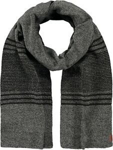 2021 NEW ADULT MEN'S  BARTS KNITTED SCARF SEAK DARK HEATHER GREY