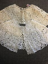 Pair Of Lace Collars From The 1950's, White & Cream, New