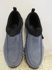 Teva Leather Clogs Slip On Shoe Blue Mules 2003 Nomadic Series Brand New