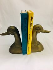 Bronze Duck Head Book Ends Vintage Set of Two