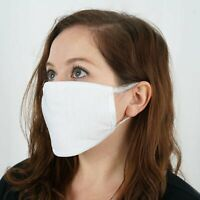 30 FACE MASKS White 3 Layers Breathable Earloop Extra Soft Cotton Gear Wholesale