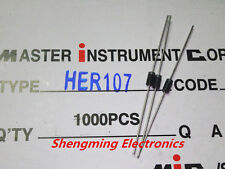 20pcs HER107 1A 800V rectifier diode DO-41