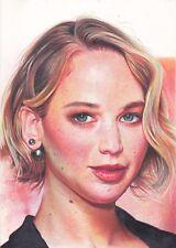 Jennifer Lawrence ART PENCIL DRAWING A4 ORIGINAL