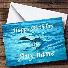 Buceo Delfines Personalizado Cumpleaños tarjeta de saludos