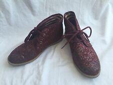 Kid girl shoe size 12 - UK NEXT beautiful shoes Fashion Sneakers Maroon Sparkle