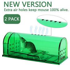 2x Mouse Trap Case Rat Catcher Mice Cage Pest Humane Large Live Rodent Control