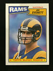 JIM EVERETT ROOKIE TOPPS 1987 LOS ANGELES RAMS RC FOOTBALL CARD. rookie card picture