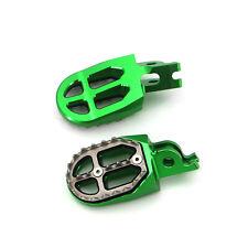 For Kawasaki KX250 KX250F KX450F KLX450R CNC Wide Race Foot Pegs Rest Green