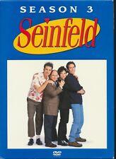 NBC;s Seinfeld - Season 3 (DVD, 2005, 4-Disc Set) Jerry Seinfeld TV Show