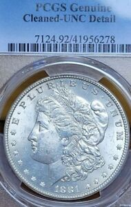 1881-P Morgan Silver Dollar. PCGS Uncirculated Detail. Has cartwheel reflection