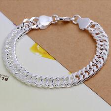 BRACCIALE DONNA doppel-panzerkette gioiello 20cm pl. con argento sterling T A