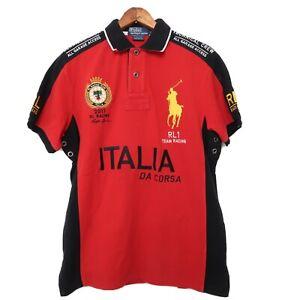 RALPH LAUREN Polo RL Racing Team Da Corsa Italy 2011 size medium Italia Jersey