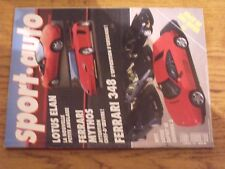 $$$ Revue Sport auto N°334 Lotus ElanFerrari MythosFerrari 348F1 GP Japon