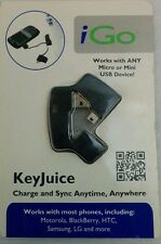 iGo Key Juice  USB Charge and Sync Cable Keychain for Mini/Micro USB Devices NEW
