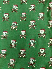 Boys Size 10 Pjs Christmas Candy Came Skulls Skeleton 100% Cotton Cwd Kids