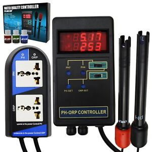2 in 1 Digital pH & ORP Controller Water Quality Tester for Aquarium Hydroponics