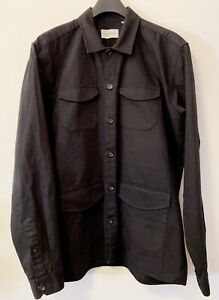 Oliver Spencer Travel Shirt, Black, size XL, superb condition