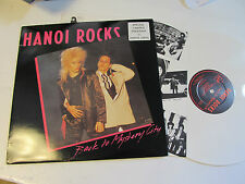 HANOI ROCKS Back To Mystery City 1983 LICK Records White Vinyl LP uk Glam orig