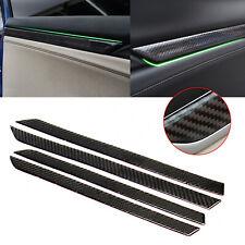 Real Carbon Fiber Interior Door Decor Trim Stickers For Honda Civic Gen 2016-18