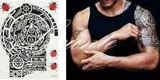 HOT Large Temporary Body Art Arm Left Shoulder Tattoo Sticker Man Women Cool Lxt