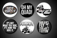 ATV magnets Fridge quad sayings humor 4 wheeling fun 4wheeler sport 1 inch round