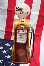 GAS GASOLINE FUEL PUMP SHELL tin tinplate blechmodell tole modellini handmade