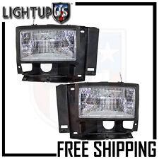 Headlights Headlamps Pair Left right set for 89-94 Ford Explorer Ranger Bronco