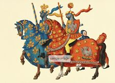 FURNITURE WALL STICKER 4 !! X A6 BARGIN ! VINTAGE  MEDIEVAL KIGHTS BOYS UP CYCLE