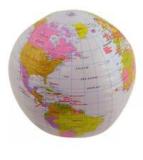 Inflable Blowup Globe 40cm Geografía Mapa Del Mundo Atlas tierra Bech Baile Fiesta Juguete