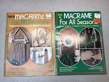 Macrame for All Seasons #2 #3 Vintage Pattern Instruction Book 50 Projects