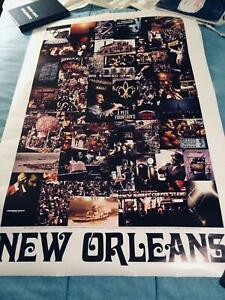 """Vintage 1969 Anything Anywhere New Orleans Photograph Travel Poster 24""""x 36"""""""