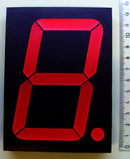 "Big 10cm (4"" inch)  - RED 7 segment LED display - common Anode - EU seller"