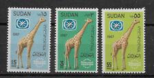 Sudan , 1967 , Intl. Tourist Year, Set Of 3 Stamps , Perf , Mnh , Cv$3.65
