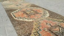 turkish runner,3x11 ft,Turkish Rug,Anatolian Rug,Bohemian,Vintage rug,Oushak Rug