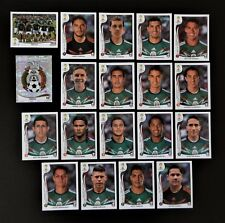 Panini FIFA World Cup Brazil 2014 Complete Team Mexico + Foil Badge