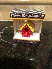 Mary Engelbreit Teapot Birdhouse Christmas Ornaments Red White Yellow