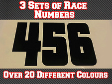 "Race Numbers 3 Sets 9"" 230mm Custom  Vinyl Stickers Decals MX Motocross Bike N27"