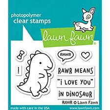 Lawn Fawn Clear Stamps Set - RAWR - Valentines Day