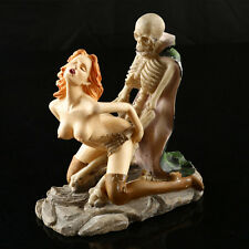 Women Ghost Sex Skeleton Skull Halloween Statue Resin Decor Sculpture Funny gift